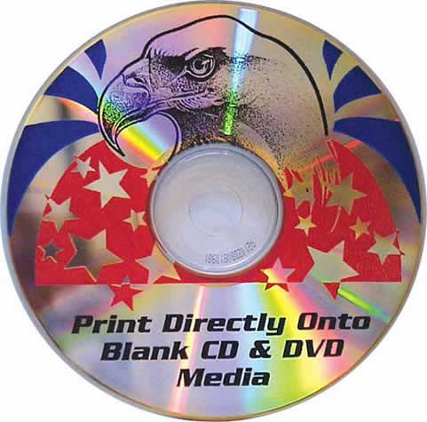 Record Your CD Or DVD To Unbranded Media And Apply Full Color Graphics Text DIRECTLY The Silver Reflective Surface In Just A Coule Of Minutes